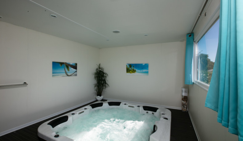 chalet mobile home spa privatif